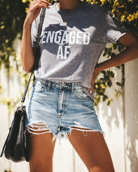 Engaged Cotton Blend Tee