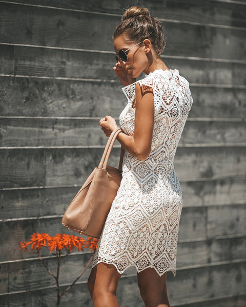 Have Mercy Lace Dress - White