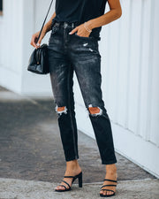 Alex High Rise Distressed Denim