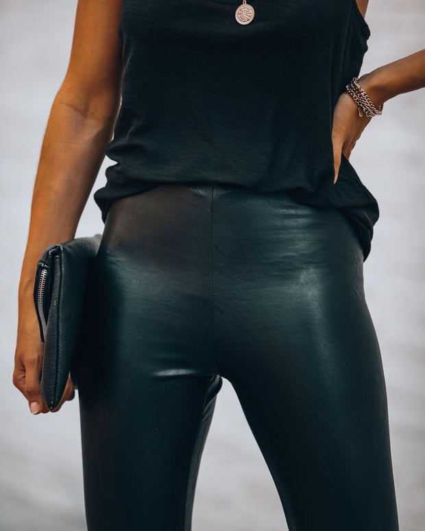 Five Star High Rise Faux Leather Legging