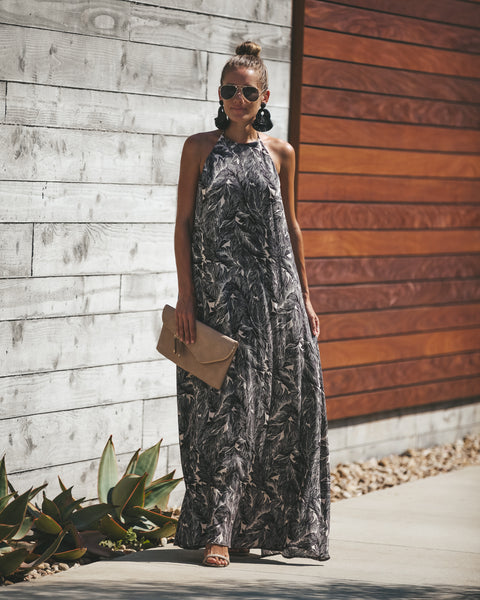 Into The Breeze Halter Maxi Dress
