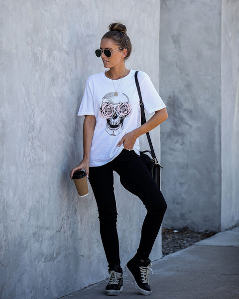 Rebel And Rose Cotton Skull Tee