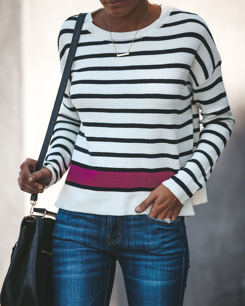Leader Of The Pack Striped Knit Top