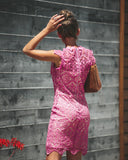 Have Mercy Lace Dress - Magenta - FLASH SALE