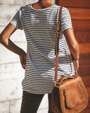 Bel Esprit Striped Knit Tunic