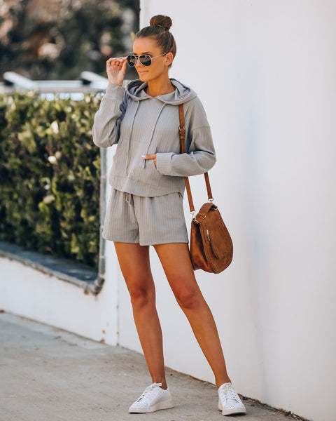 Rowe Pocketed Knit Shorts - Grey