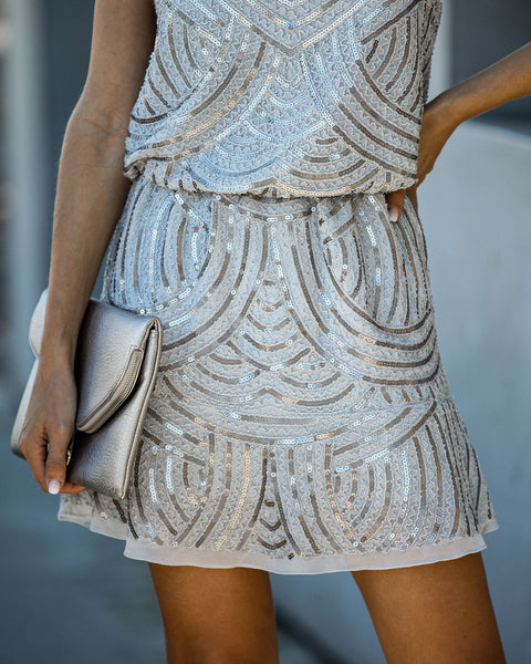 Watch And Learn Sequin Mini Dress - FINAL SALE
