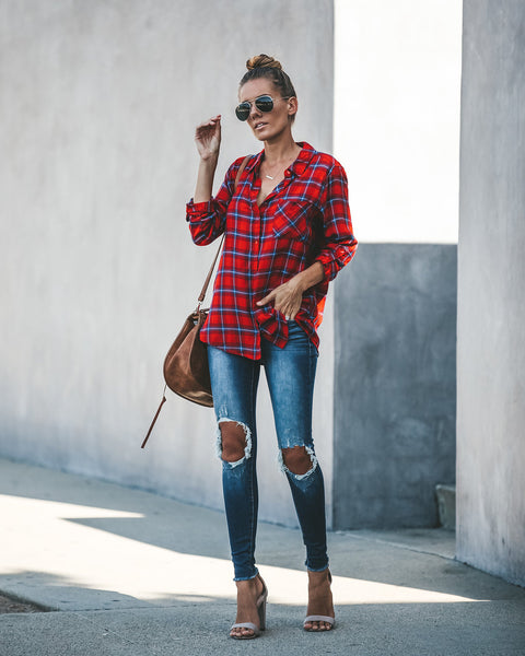Lumberjack Button Down Plaid Top