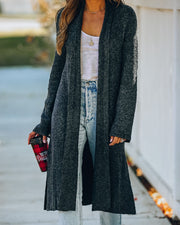 Woodland Wanderer Knit Duster Cardigan - Charcoal