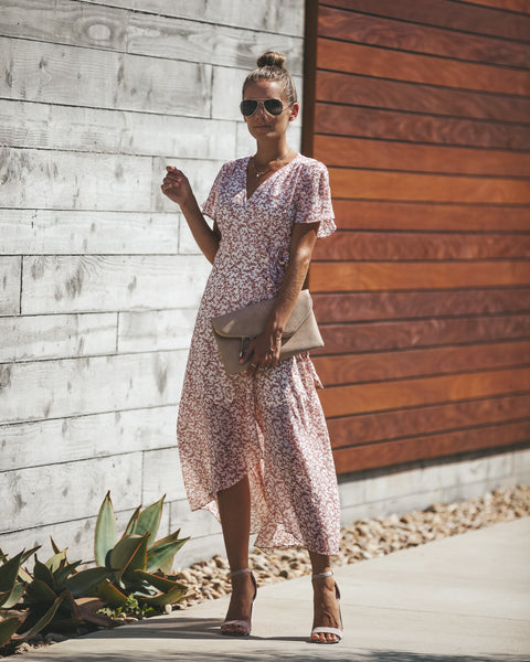 Aromatics Floral Wrap Maxi Dress - FINAL SALE