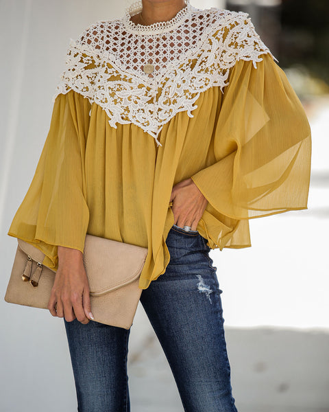 Playful Crochet Lace Blouse - FINAL SALE