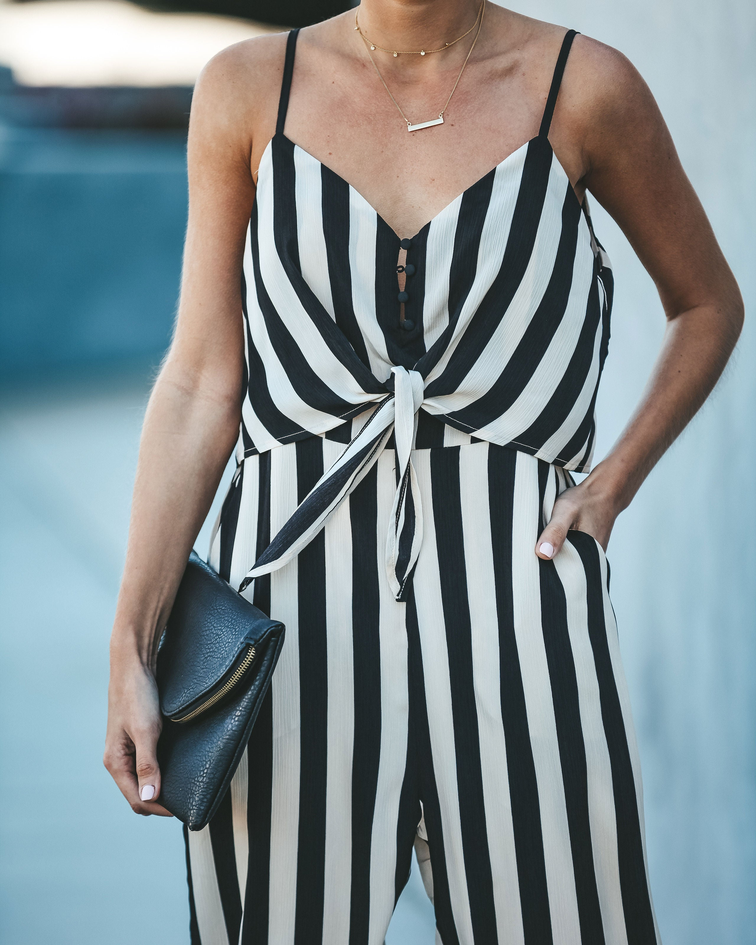 3f71313883a7 Kelly Striped Pocketed Jumpsuit - FINAL SALE – VICI