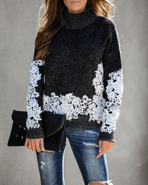 True Story Crochet Lace Knit Sweater - FINAL SALE