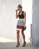 Galentine Striped Knit Skirt - FINAL SALE