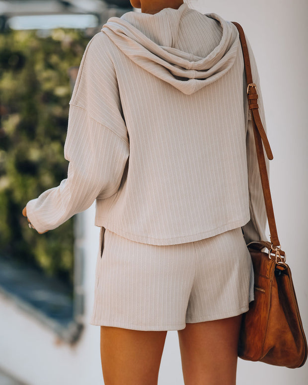 Rowe Pocketed Knit Hoodie - Taupe - FINAL SALE