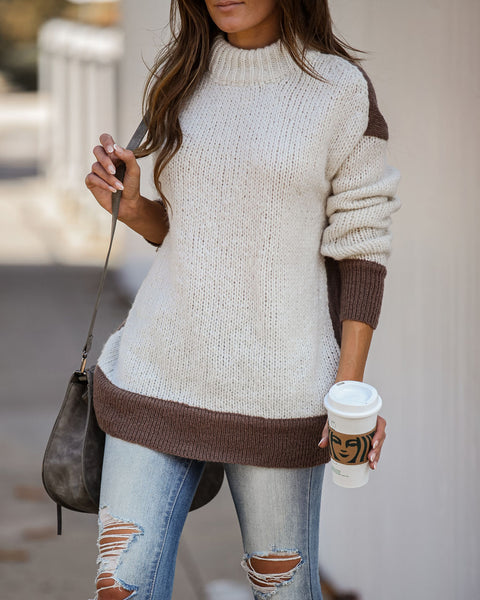Chrisley Colorblock Knit Sweater