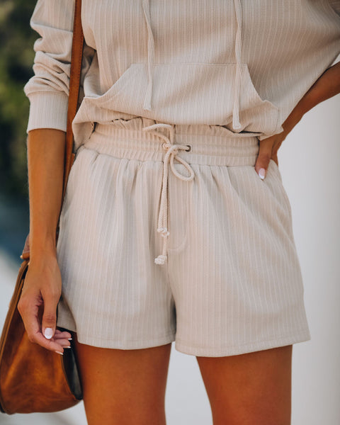 Rowe Pocketed Knit Shorts - Taupe