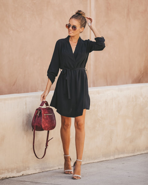 New Haven Tie Dress - Black