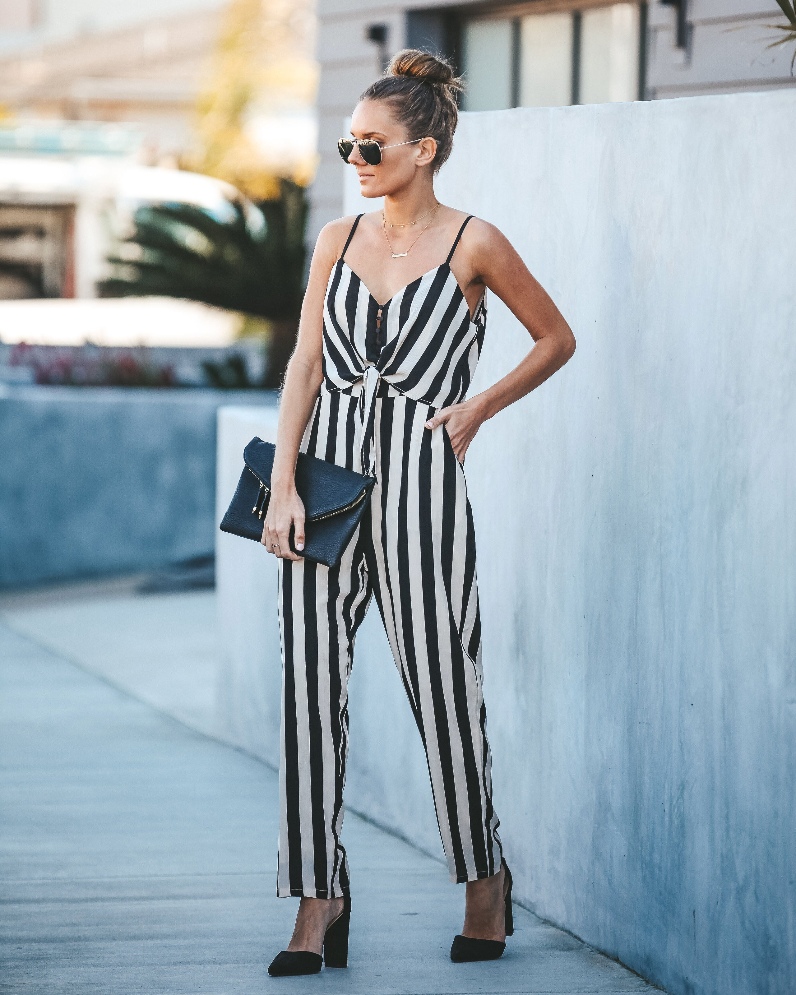 45f978f8ad8f Kelly Striped Pocketed Jumpsuit - FINAL SALE – VICI