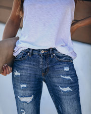 Universal Distressed Frayed Skinny