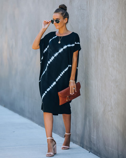 Recline Tie Dye Midi Dress