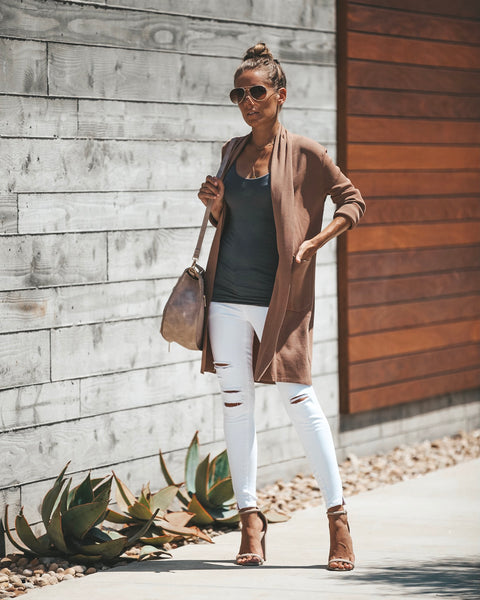 Diablo Pocketed Cardigan - Mocha