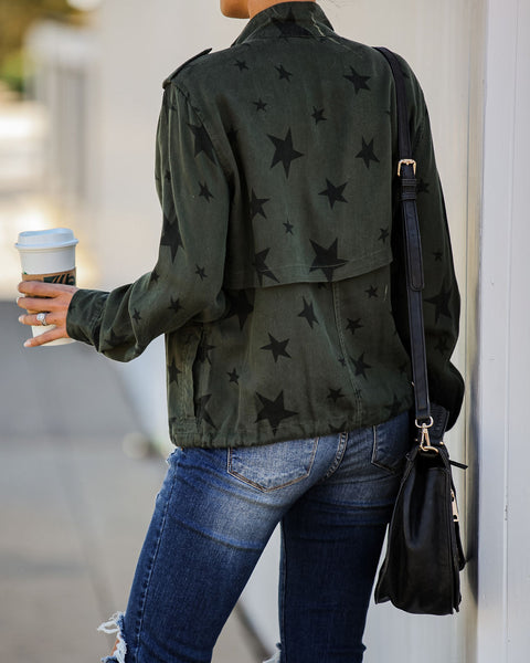 Every Inch A Star Pocketed Tencel Jacket