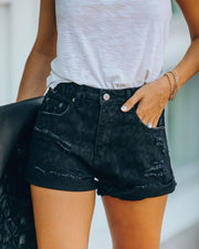 Panthera Distressed Cuffed Denim Shorts - FINAL SALE