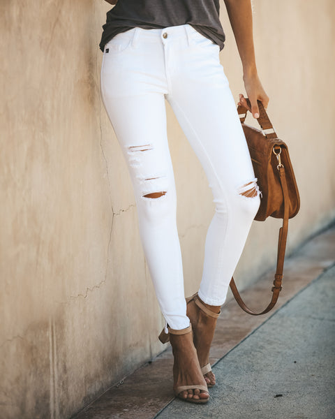 Split Ankle Denim - White