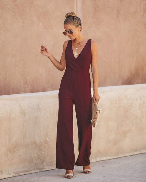 Style Is Forever Jumpsuit - Wine - FINAL SALE