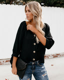 In The Blink Of An Eye Blouse - Black
