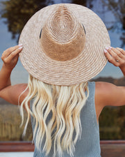 Islander Straw Sun Hat - Tan view 4