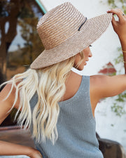 Islander Straw Sun Hat - Tan view 3