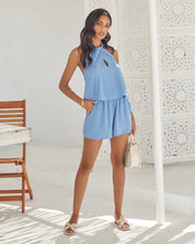 Ithaca Pocketed Halter Romper view 11
