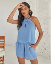 Ithaca Pocketed Halter Romper view 9