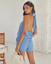Ithaca Pocketed Halter Romper view 2