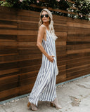 Into The Horizon Pocketed Maxi Dress - Navy - FINAL SALE