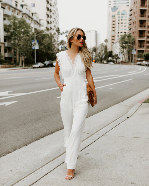 Invincible Pocketed Jumpsuit - White