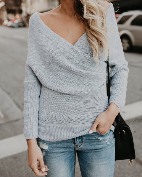 Wrap Me Up Sweater - Grey - BESTSELLER / NEW COLOR