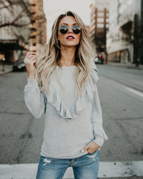 Ruffles All The Way Knit Top