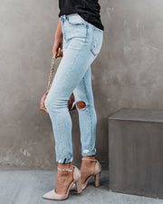 Jae High Rise Distressed Cuffed Skinny view 9