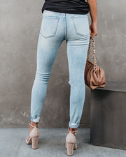 Jae High Rise Distressed Cuffed Skinny view 2