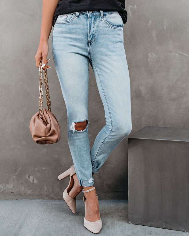 Jae High Rise Distressed Cuffed Skinny view 6