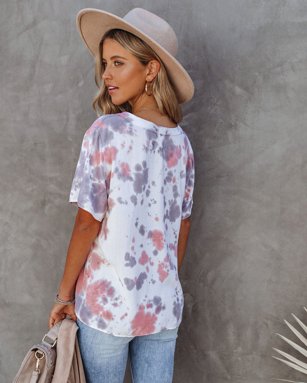Janessa Woven Tie Dye Top - FINAL SALE