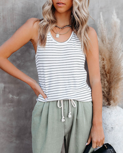 Jersey Striped Knit Tank