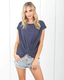 Seascape Striped Twist Tee