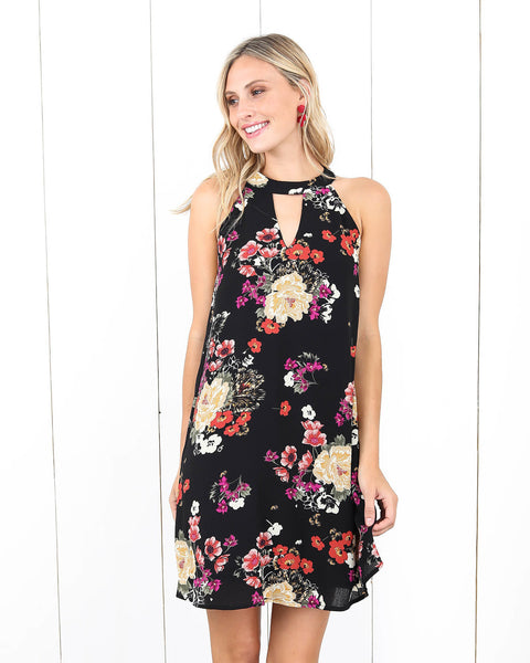 Fresh Fields Floral Keyhole Dress - FINAL SALE