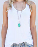 MEGHAN BO DESIGNS - Star Fall Druzy Rosary Necklace - Green