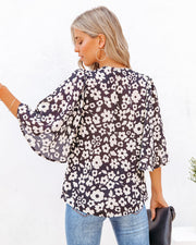 Kalani Floral Bell Sleeve Blouse view 2