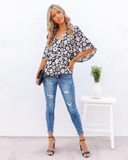 Kalani Floral Bell Sleeve Blouse view 6